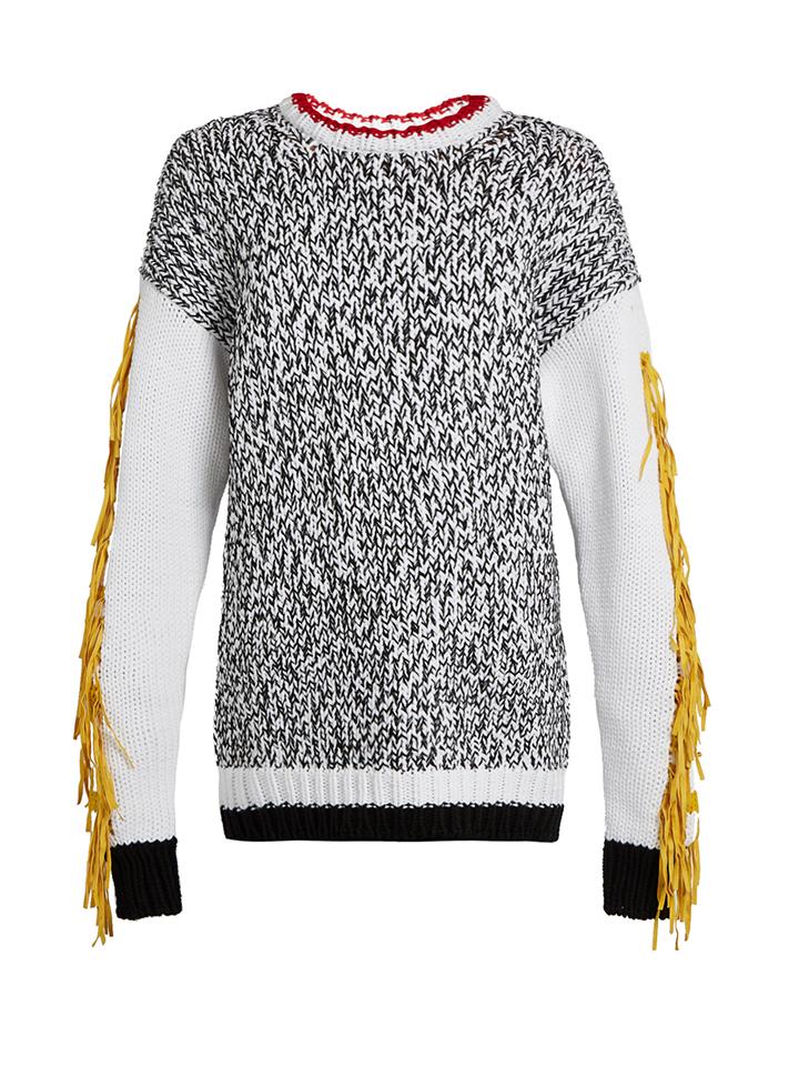 JOSEPH--Xtreme-flecos-manga-suéter-de-mezcla-de-algodón