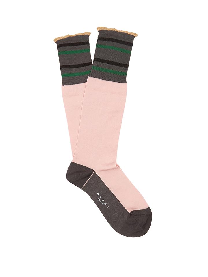 MARNI--calcetines-de-rayas-de-mezcla-de-algodón