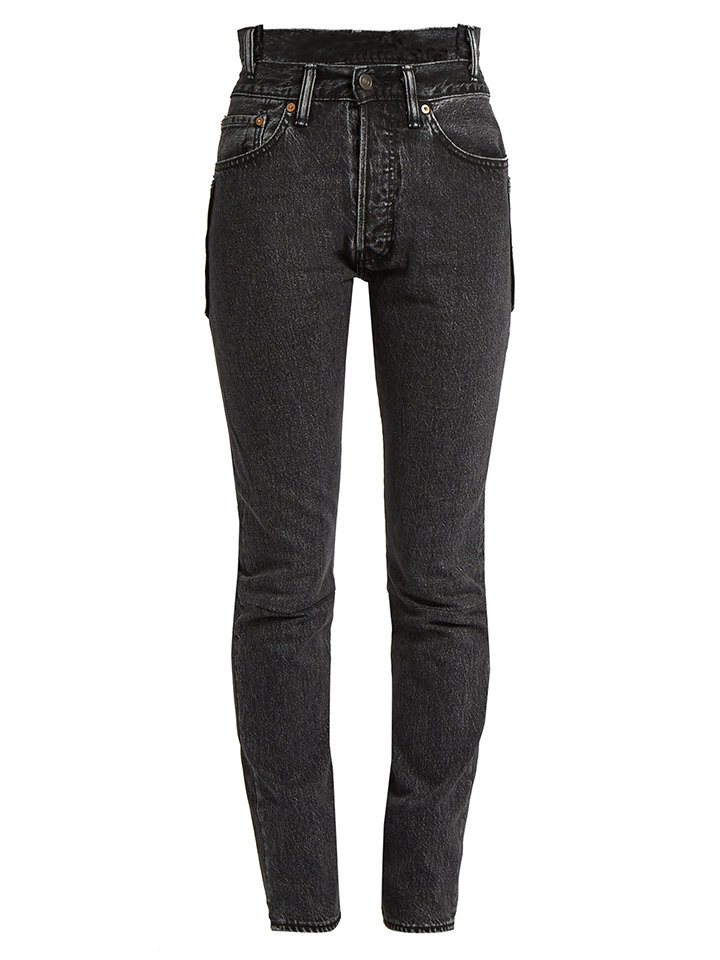 VETEMENTS--jeans-ajustados-de-talle-alto-reelaborado-de-Levi-X