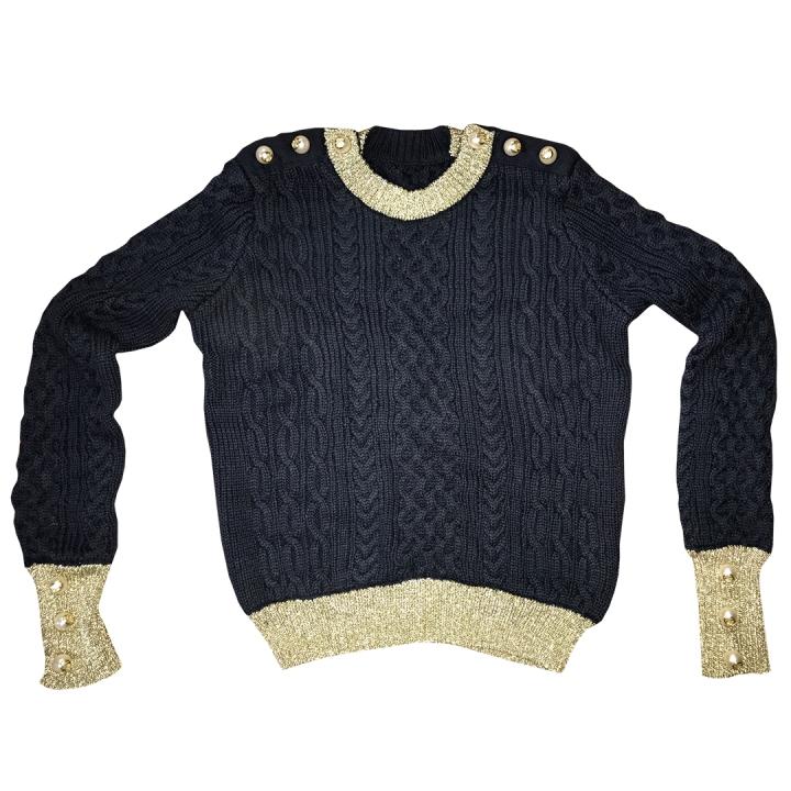 Suéter-Oro-Azul
