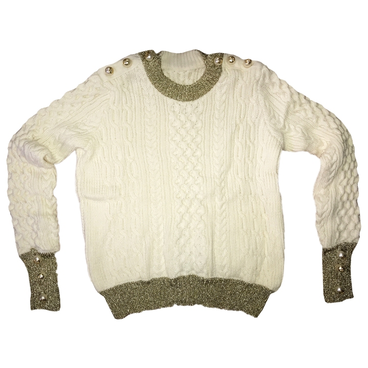 Suéter-Oro-Blanco