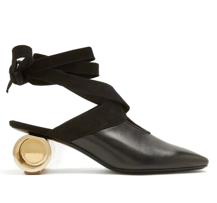JW ANDERSON Cylinder-heel leather mulas