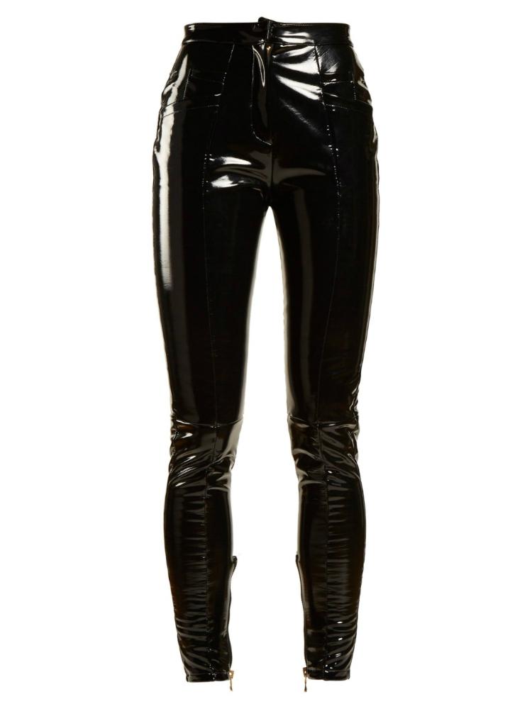 Pantalones pitillo de pierna medio con revestimiento BALMAIN