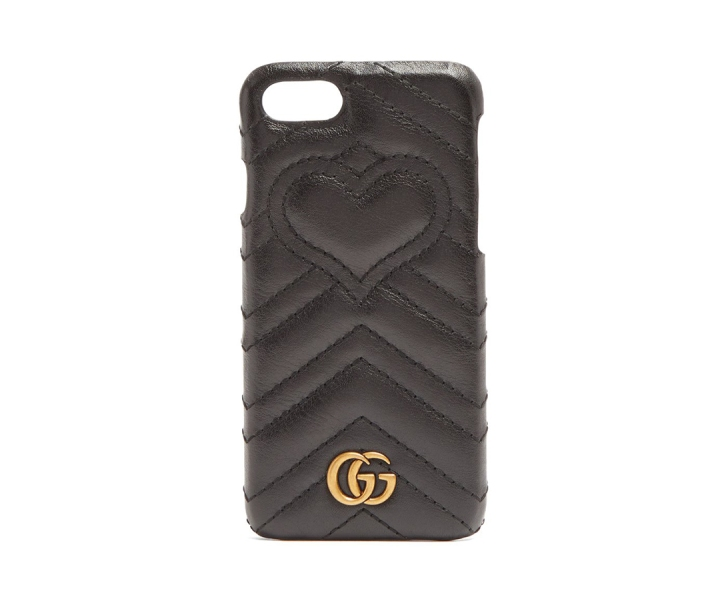 Funda-de-cuero-acolchada-GUCCI--GG-Marmont-para-iPhone-7