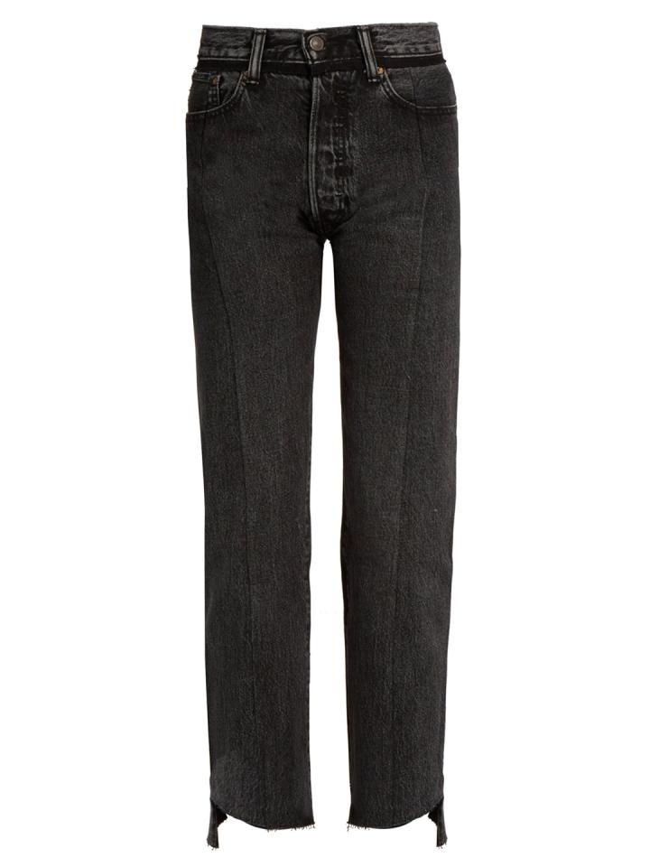 VETEMENTS--X-Levi's-pantalones-vaqueros-rectos-de-pierna-recta